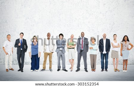 Business People Team Connection Togetherness Concept - stock photo
