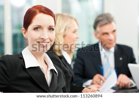 business people team meeting in an office the boss with his employees business nap office relieve