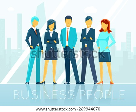 Business people. Teamwork and person, team communication, discussion seminar - stock photo