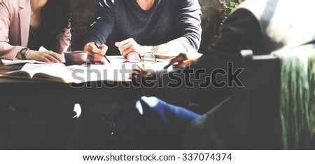 Business People Teamwork Planning Office Strategy Concept, blurred - stock photo