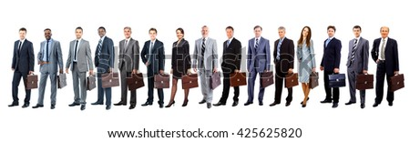 business people - the elite business team - stock photo
