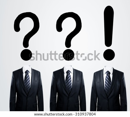 business people  thinking, business concept - stock photo