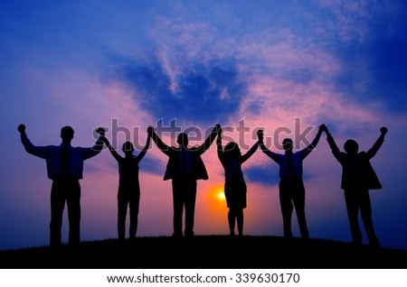 Business People Togetherness Corporate Team Unity Concept - stock photo