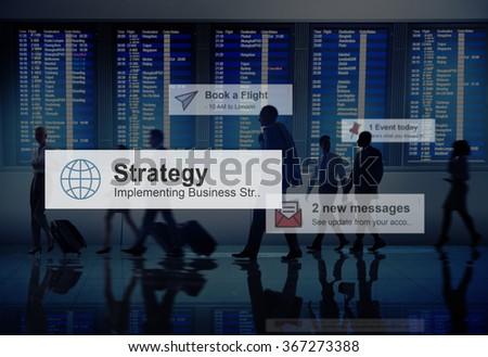 Business People Traveling Airport Destination Concept - stock photo