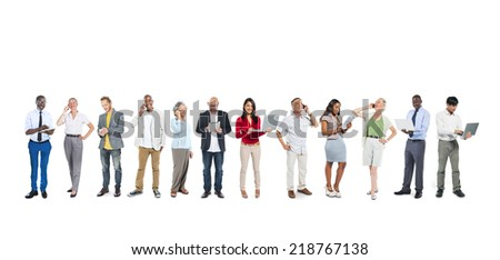 Business People Using Digital Devices - stock photo