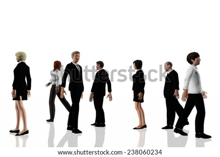 Business people walking - stock photo