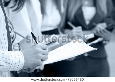 Business people work - stock photo