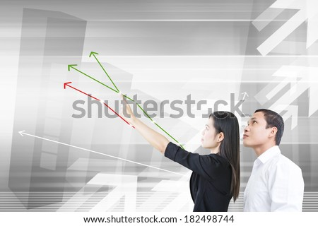 Business People Working For Financial Advisor - stock photo