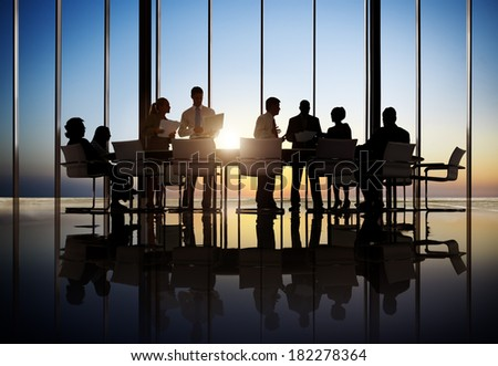 Business People Working In a Conference Room - stock photo