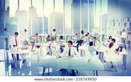 Business People Working in an office - stock photo