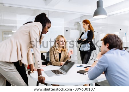 Business people working in modern office