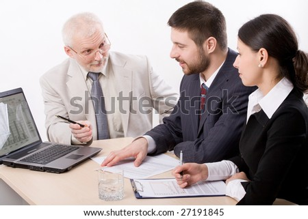 Business people working in team - stock photo