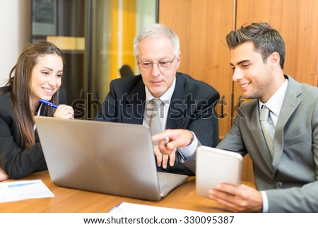 Business people working in their office