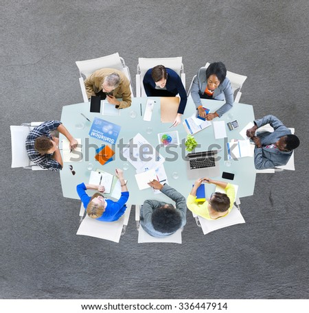 Business People Working Office Meeting Concept