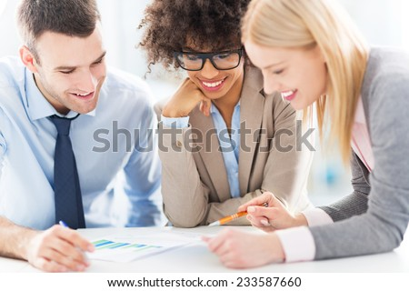 Business people working together - stock photo