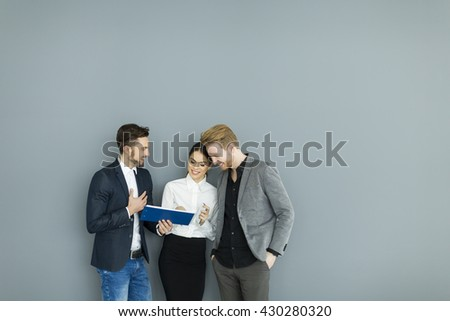 Business people working together at the office - stock photo