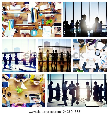 Business People Working Together Discussion Office Concept - stock photo