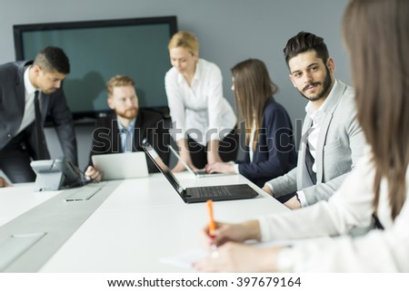 Business people working together in the office