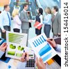 Business people working with graphs. Financial concept. - stock photo