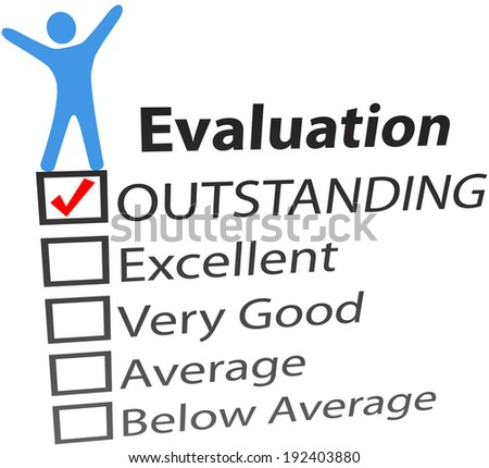 Business person celebration of outstanding human resources evaluation - stock photo