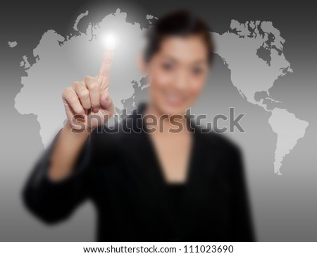 business person hand touch virtual graph,chart, diagram