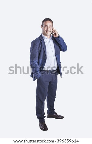 business person portrait on isolated background