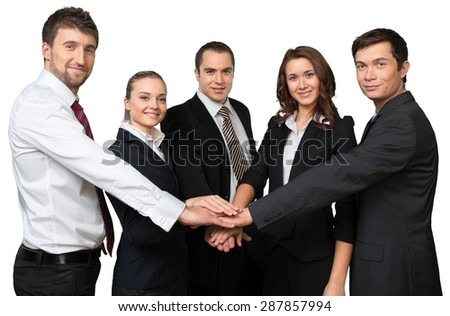 Business Person, Teamwork, Professional Occupation. - stock photo