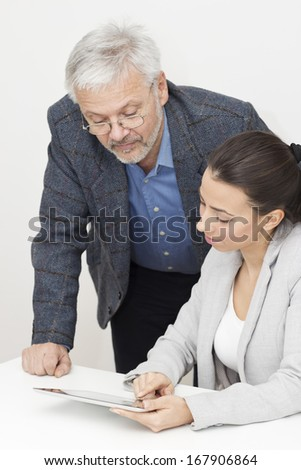 Business person working around the desk. - stock photo