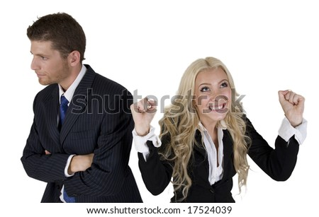business persons on isolated background
