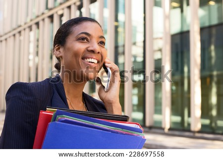 business phone call - stock photo