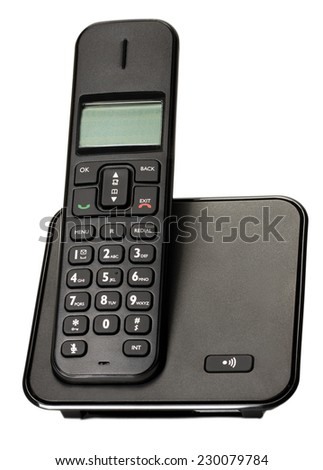 business phone isolated on white background.