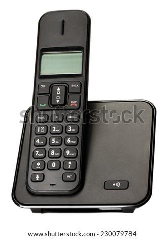 business phone isolated on white background. - stock photo