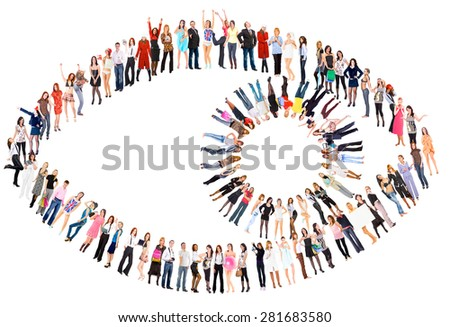 Business Picture Corporate Teamwork  - stock photo