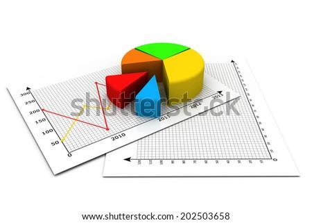 Business pie chart  - stock photo
