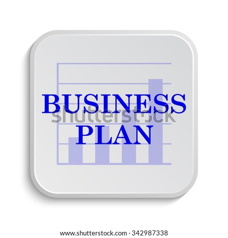 Business plan icon. Internet button on white background.