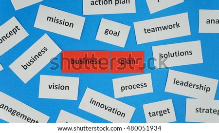 Business Plan in word collage