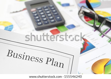 Business Plan on the Desk - stock photo