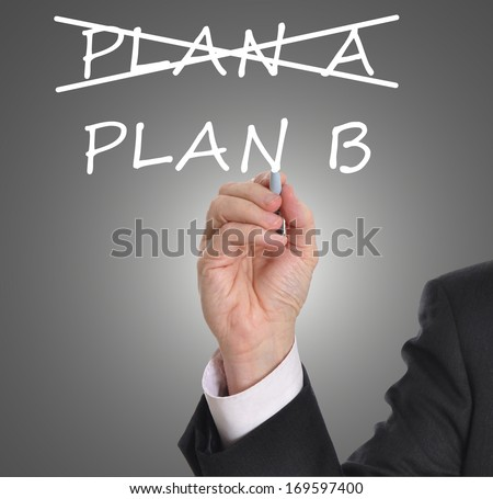 Business plan strategy changing from plan A to plan B - stock photo