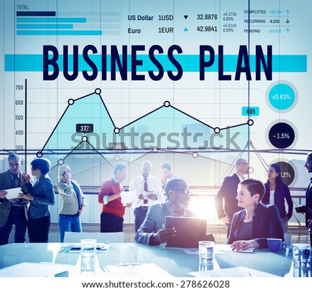 Business Plan Strategy Marketing Concept - stock photo