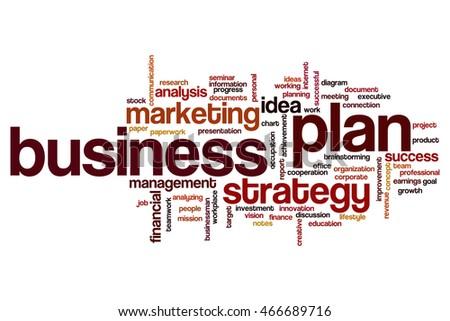 business plan word cloud concept stock illustration 466689716