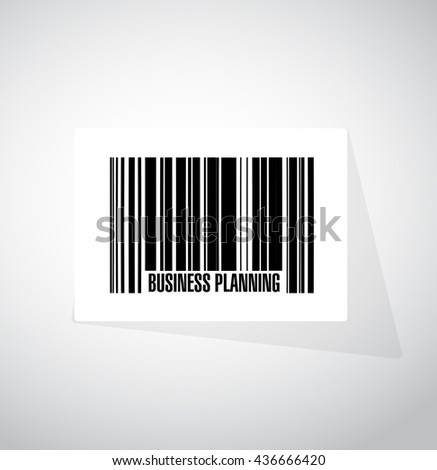 business planning barcode sign concept illustration graphic design - stock photo