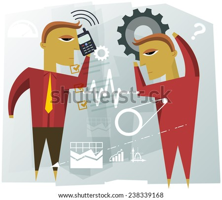 Business Planning Illustration - stock photo