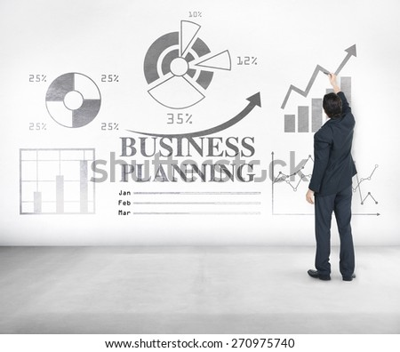 Business Planning Statistics Diagram Financial Concept - stock photo