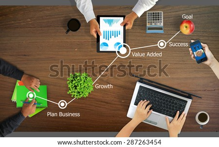 Business planning,Steps to Success concept. - stock photo