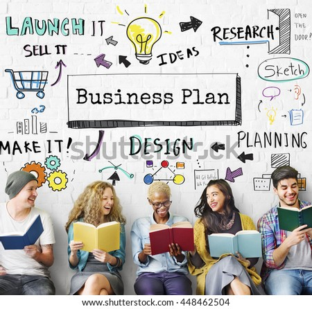 Business Planning Strategy Process Operations Concept - stock photo