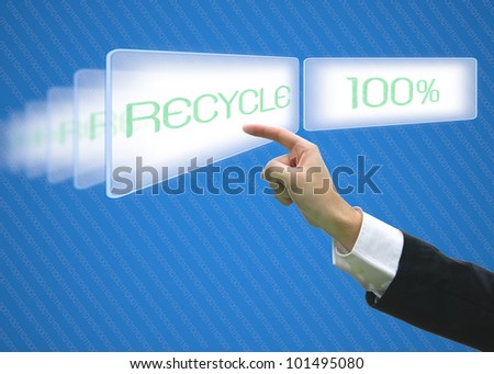 Business pointing screen recycle 100%