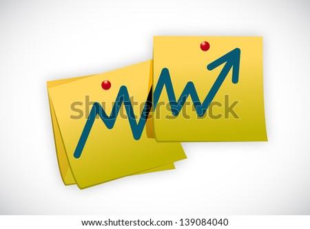business post graph teamwork illustration design over white - stock photo