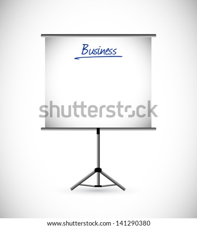 business presentation illustration design over a white background - stock photo