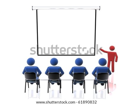 Business presentation (web-sized to 1080 HD sized footages also available) - stock photo