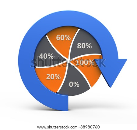 Business process chart with arrow - stock photo